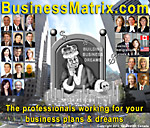 logo version of BusinessMatrix.com with King midas surrounded by busiuness lawyers, accountants and executive trainers